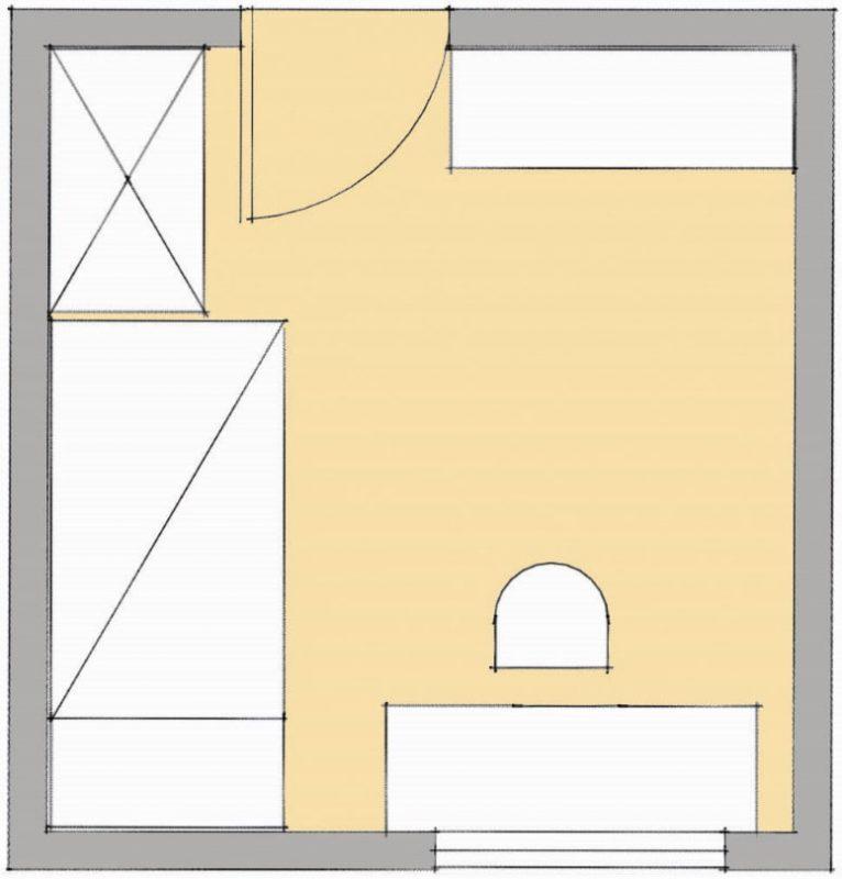 Dizajn sobe, študentsko sobo, barve, soba, študenti, nasvet, bivanje, Rešitev, študentska soba, tloris