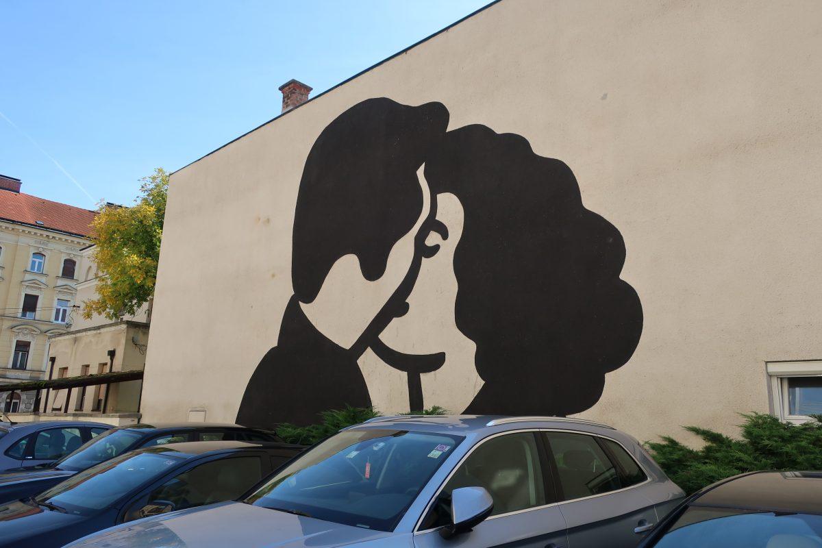 mariborske stene, grafiti, maribor, ulica, grafit, umetnost, Objemi in poljubi