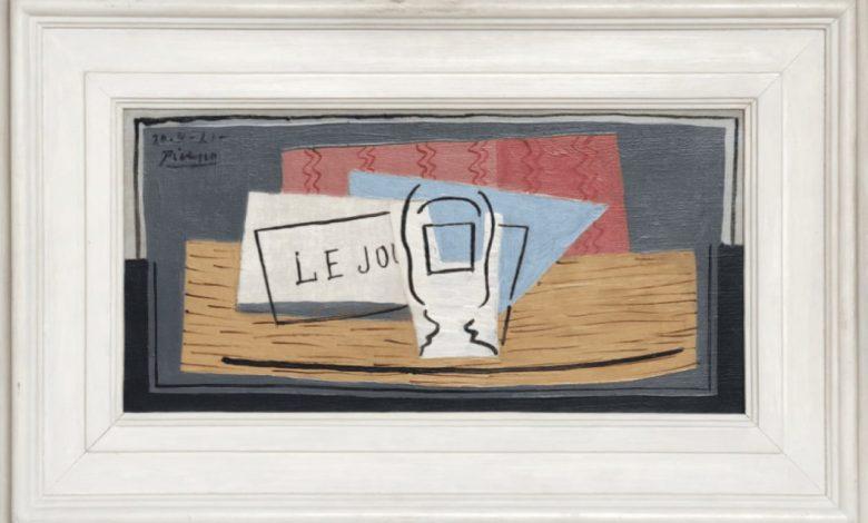 Pabla Picassa, Pablo Picasso, David Nahmad, 100 evrov, srečo lov, srečka, Moški s cilindrom, Nature Morte