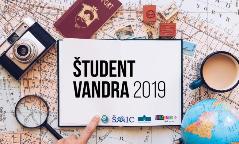 Študent vandra 2019, Študent vandra, tujine, tujino, tujina, natečaj, kako, študenti, izmenjava, študij, tujina,