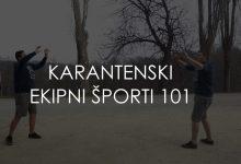 Photo of Ekipne športe lahko igraš tudi med karanteno