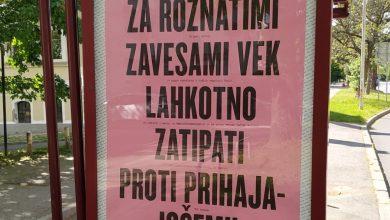 Photo of Mariborska občina z mislimi na plakatih bodri meščane