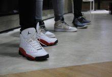Photo of Prodani košarkarski copati s koščkom stekla, ki jih je nosil Michael Jordan
