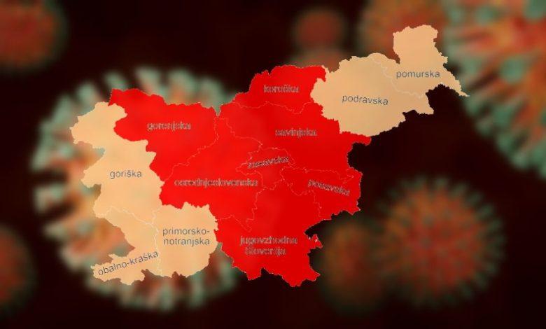 prehajanje med regijami, slovenija, regija, omejitve, koronavirus, covid-19, vlada,