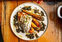 Photo of Mala kuhna: brancin in masleni korenček, mmmm … poletje na krožniku