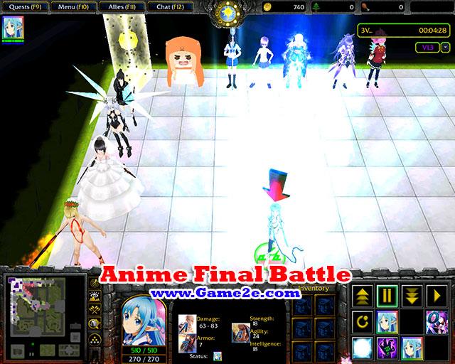 Anime Final Battle 14 AFB14w3x Getdota Map