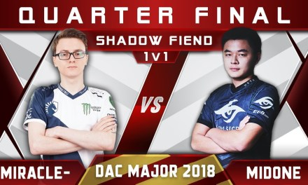 Miracle- vs MidOne 1v1 DAC 2018 Major Solo 1vs1 Dota 2