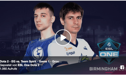 EG vs Team Spirit Game 1 – ESL One Birmingham Group Stage