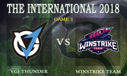 VGJ.Thunder vs Win Strike game 1 – The International 2018, Group A Day 2 – Dota 2