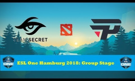 Secret vs paiN | ESL One Hamburg 2018: Group Stage Day 3 Bo3