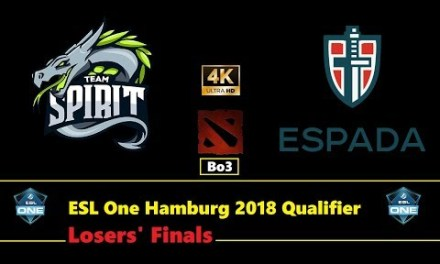 Spirit vs Espada | ESL One Hamburg 2018 Europe & CIS Qualifier Losers' Finals Bo3 | 2160p60