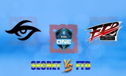 Secret vs FTD GAME 1 Bo2 | Group Stage ESL One Katowice 2019