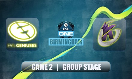 EG vs KG | ESL One Birmingham | Group Stage Bo2 Game 2