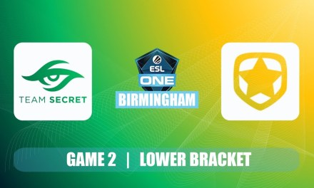 Secret vs Gambit ESL One Birmingham | Lower Bracket R3 BO3 Game 2