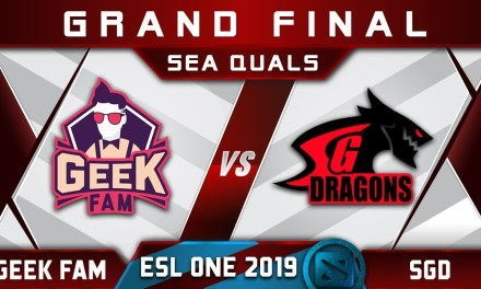 Geek Fam vs SGD Grand Final SEA ESL One Hamburg 2019 Highlights Dota 2