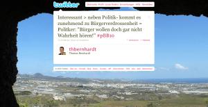 Tweet zur Bürgerverdrossenheit