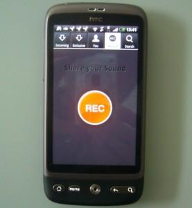 Rec Taste der Android Soundcloud App