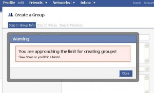Limit for creating groups