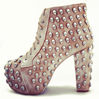 skull studded boots