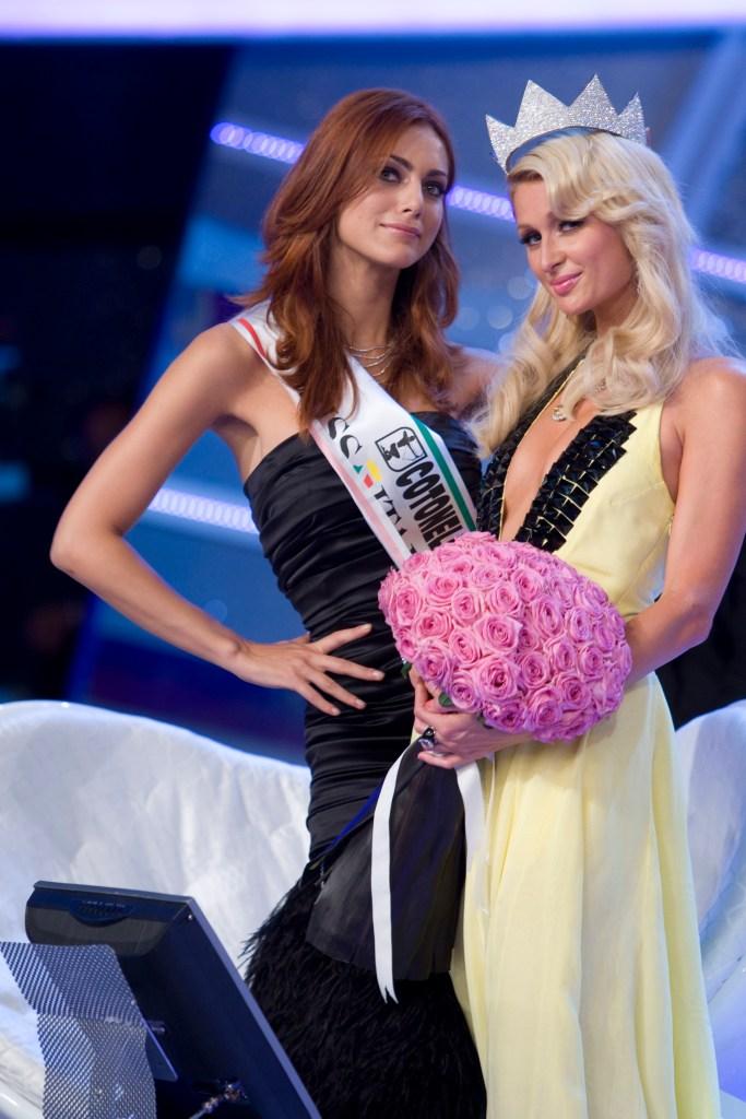 Miriam Leone con Paris Hilton 2009