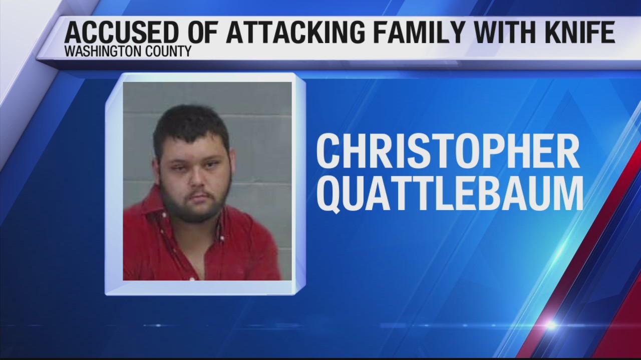 Florida man draws blade on his own family