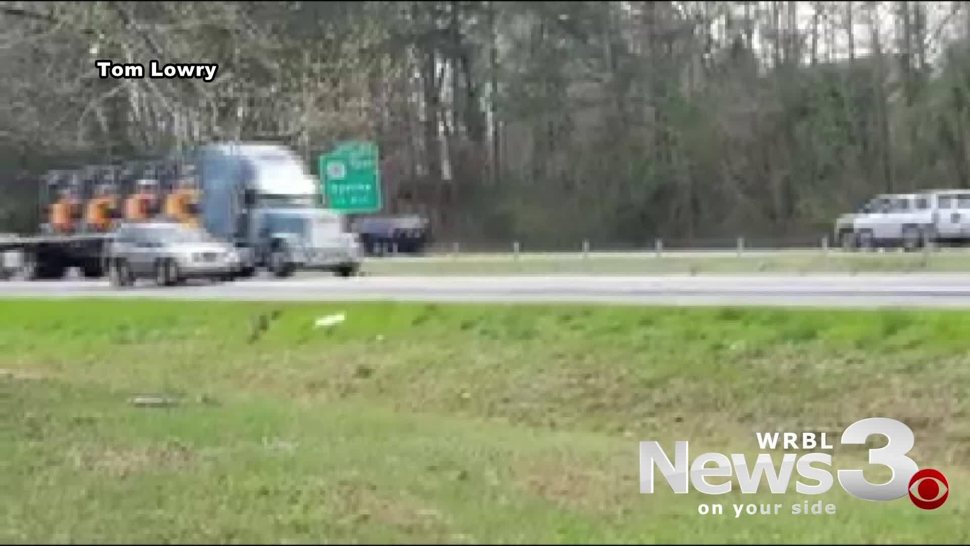I-85 car crash right before motorcade