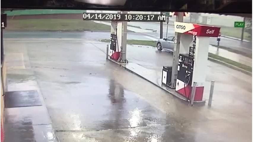 Citgo Gas Station tank explosion