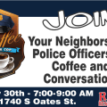 Join us for a cup of coffee May 30th