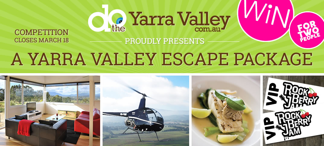 Win a Yarra Valley Escape Package for 2