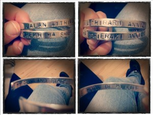 A picture of bracelets posted by @jamyjams_ to Twitter.