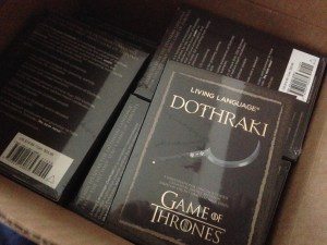 Copies of Living Language Dothraki
