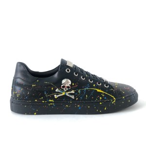 Philipp Plein black multi-color low top sneakers