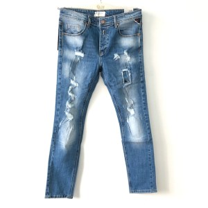 REPLAY HyperFlex Blue slim stretch denim jeans