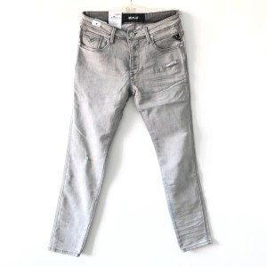 REPLAY HyperFlex Light Grey slim stretch denim jeans