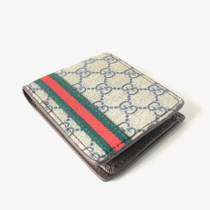 Gucci grey leather wallet