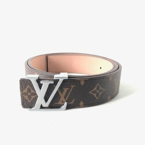 Louis Vuitton brown Silver buckle leather belt