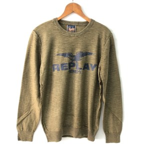"""REPLAY """"1981 Eagle"""" olive green sweater - dot made"""