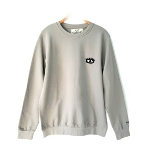 SABALI Grey round neck sweater
