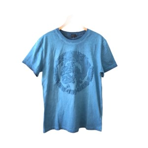 DIESEL Blue short sleeve round neck t-shirt