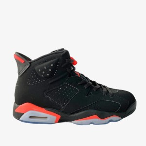 "AJ 6 ""Infra-Red"" Black basketball sneakers - dot made"