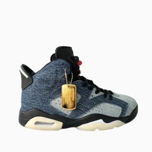 "AJ 6 ""Washed Denim"" basketball sneakers - DOT MADE"