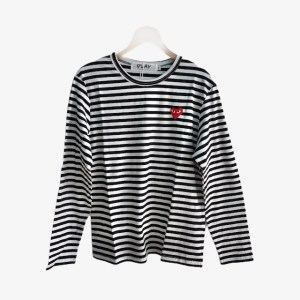 """PLAY Comme des Garcons """"Striped"""" t-shirt - Black & White - dot made"""