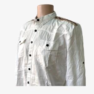 "White ""GUC"" casual shirt – dot made"