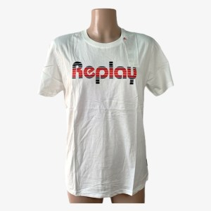 "Replay ""Rounded font"" white t-shirt - DOT MADE"