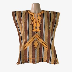 "OB ""Original kente"" orange dashiki shirt - dot made"