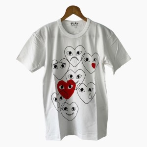 "Play Comme des Garcons ""Emotions"" white t-shirt - dot made"
