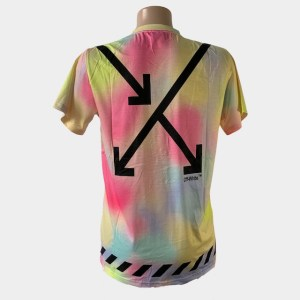 "Off-White ""Arrow lines"" colourful t-shirt – dot made"