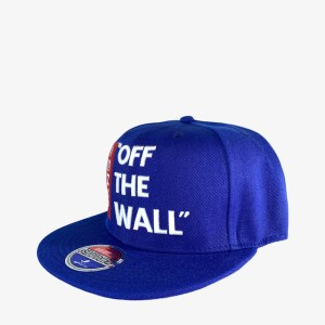 "VANS ""Off the wall"" blue snapback cap - dot made"