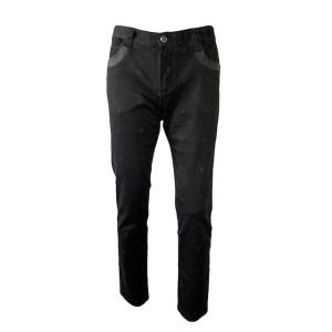 Angelo Galasso pattern black denim jeans - dot made