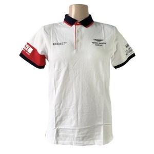 HKT Aston Martin racing MS white polo shirt - dot made